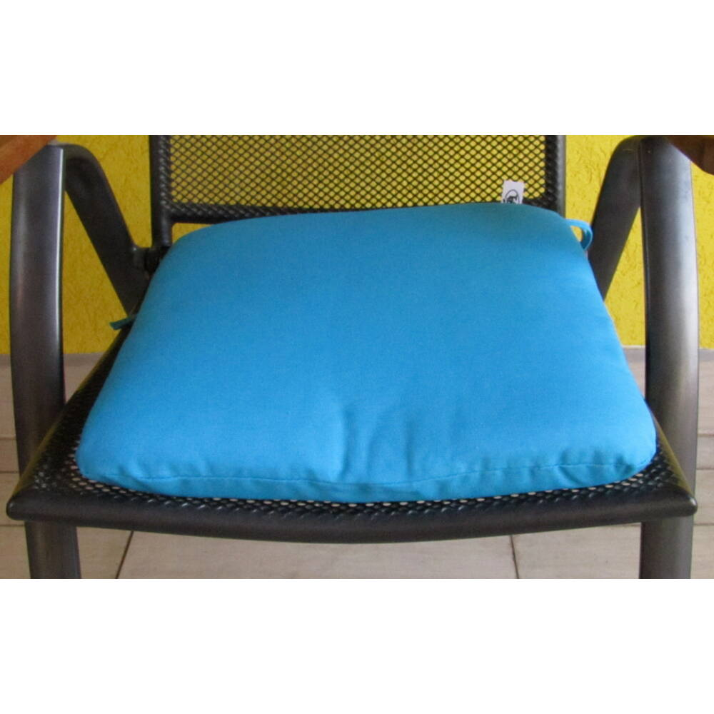 Tenger Kék kötős ülőpárna 38 x 41 x 5 cm