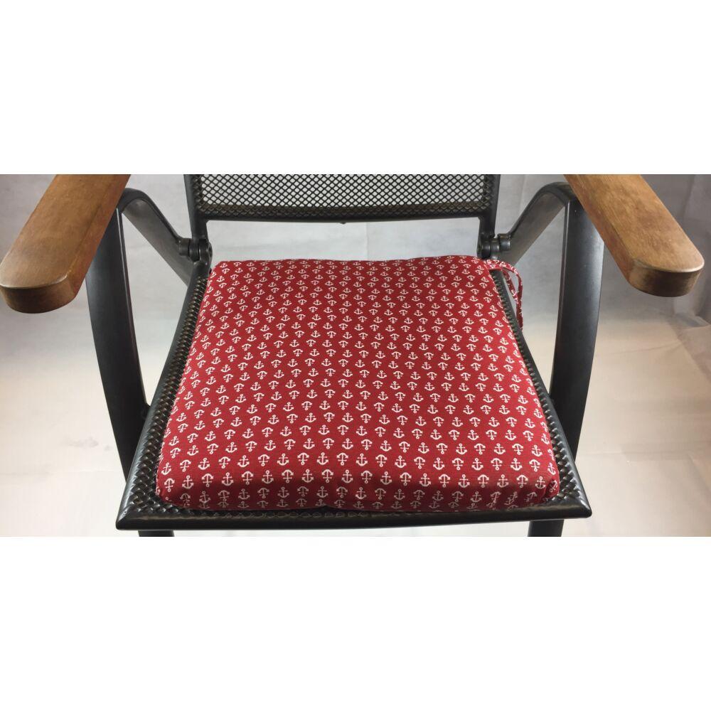 Horgony mintás (10B)  kötős ülőpárna 38 x 41 x 5 cm