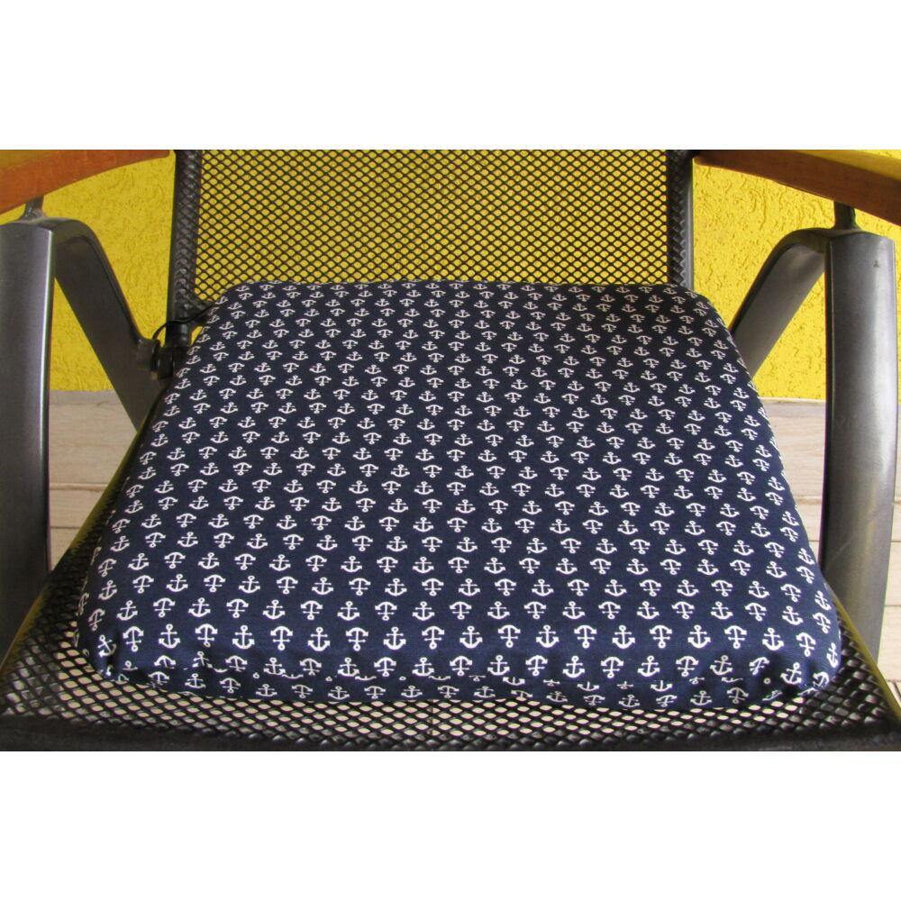 Horgony mintás (10A)  kötős ülőpárna 38 x 41 x 5 cm