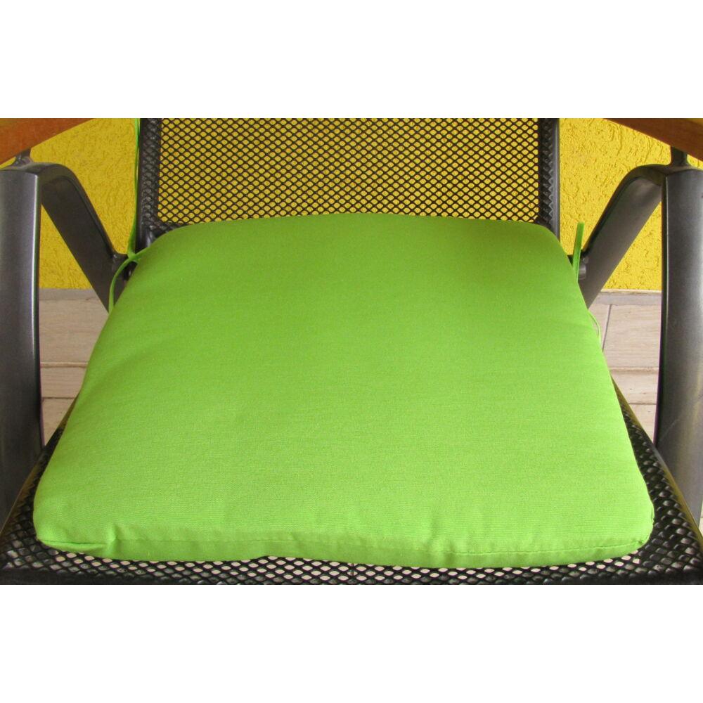 Egyszínű kiwi zöld kötős ülőpárna 38 x 41 x 5 cm