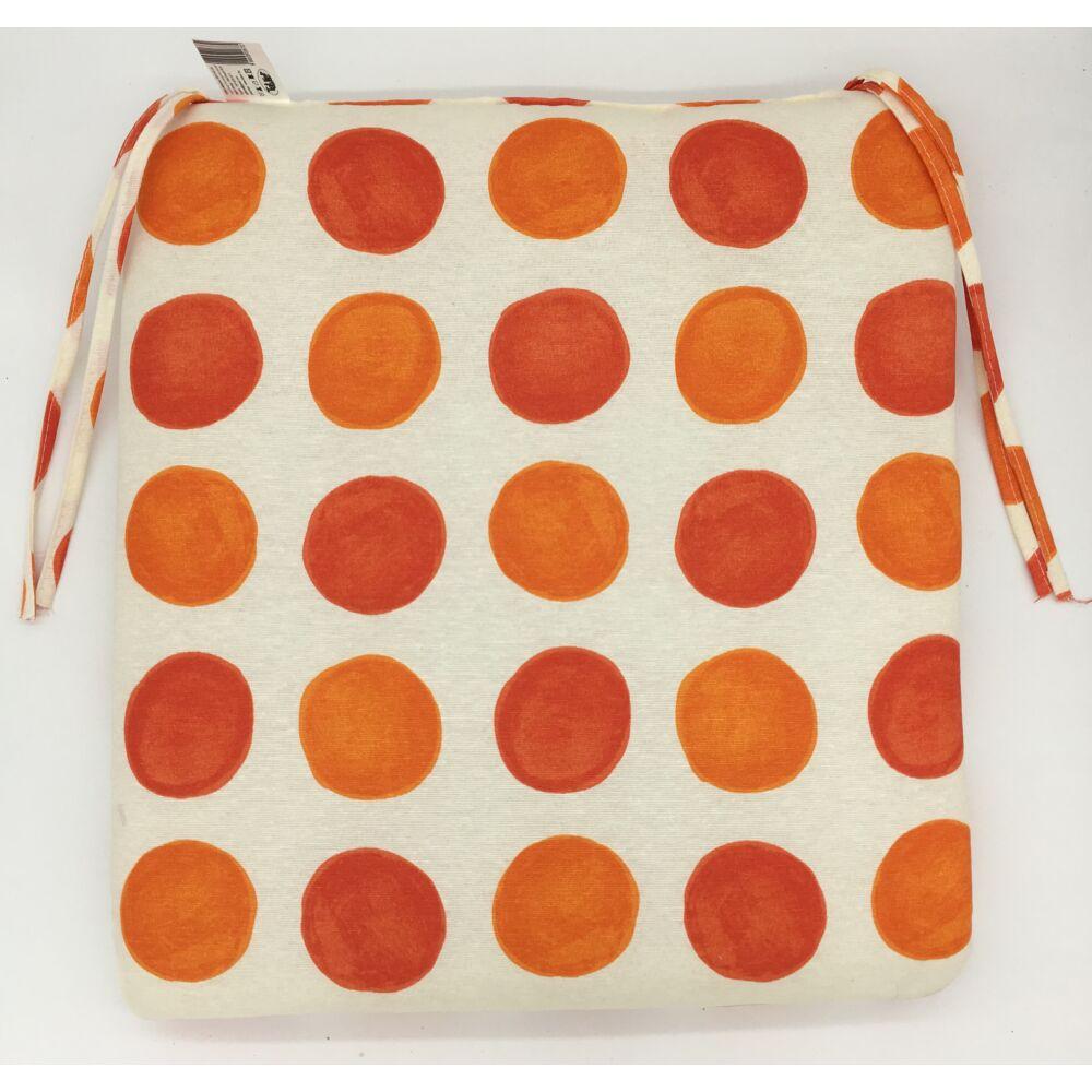 Narancs Pöttyös kötős ülőpárna 38 x 41 x 5 cm