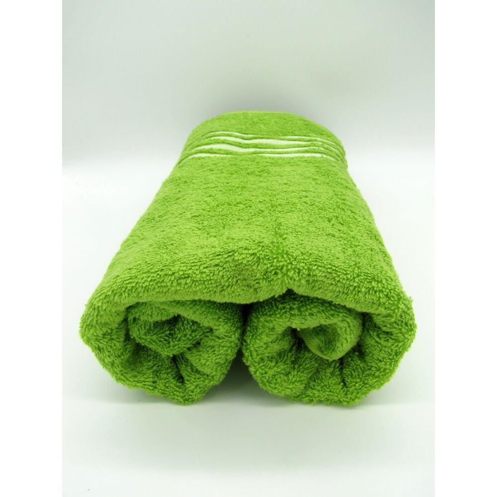 Selyembordűrös törölköző 70*140cm Zöld