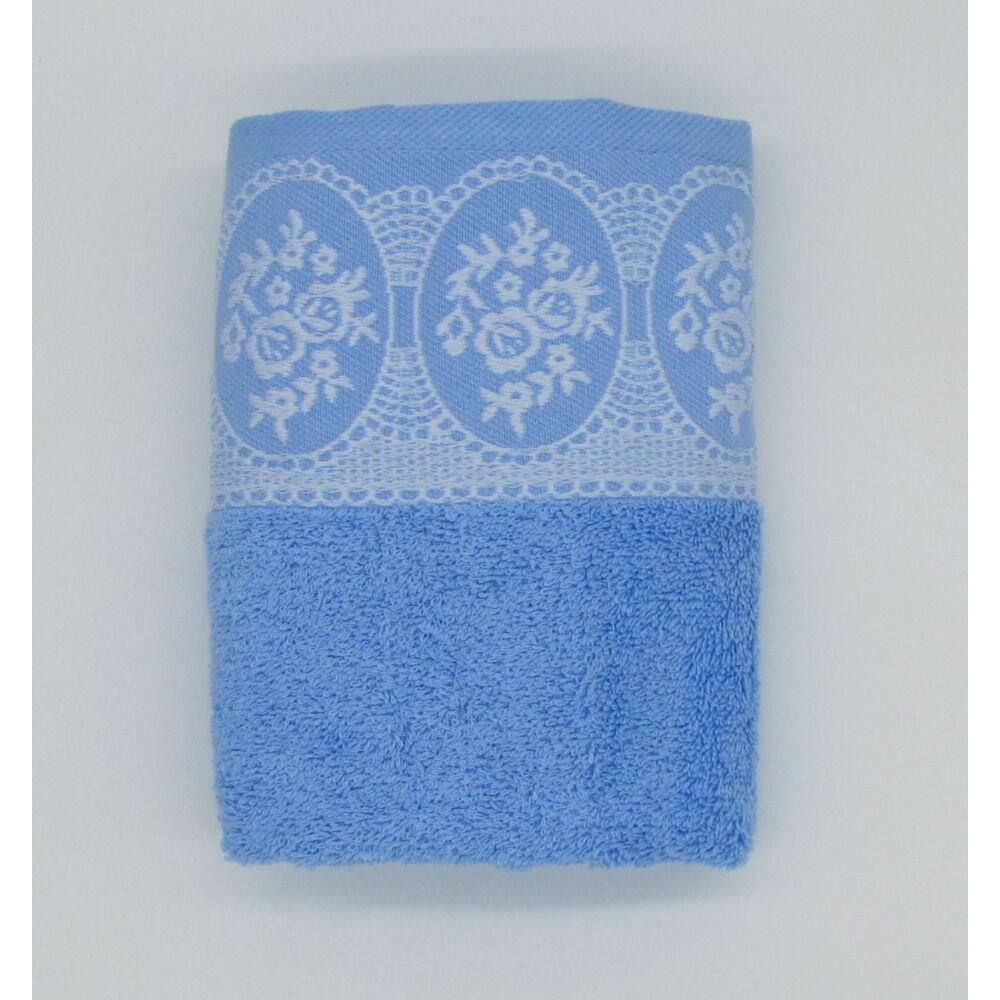 Törölköző 50x90 cm Jacquard  világos kék
