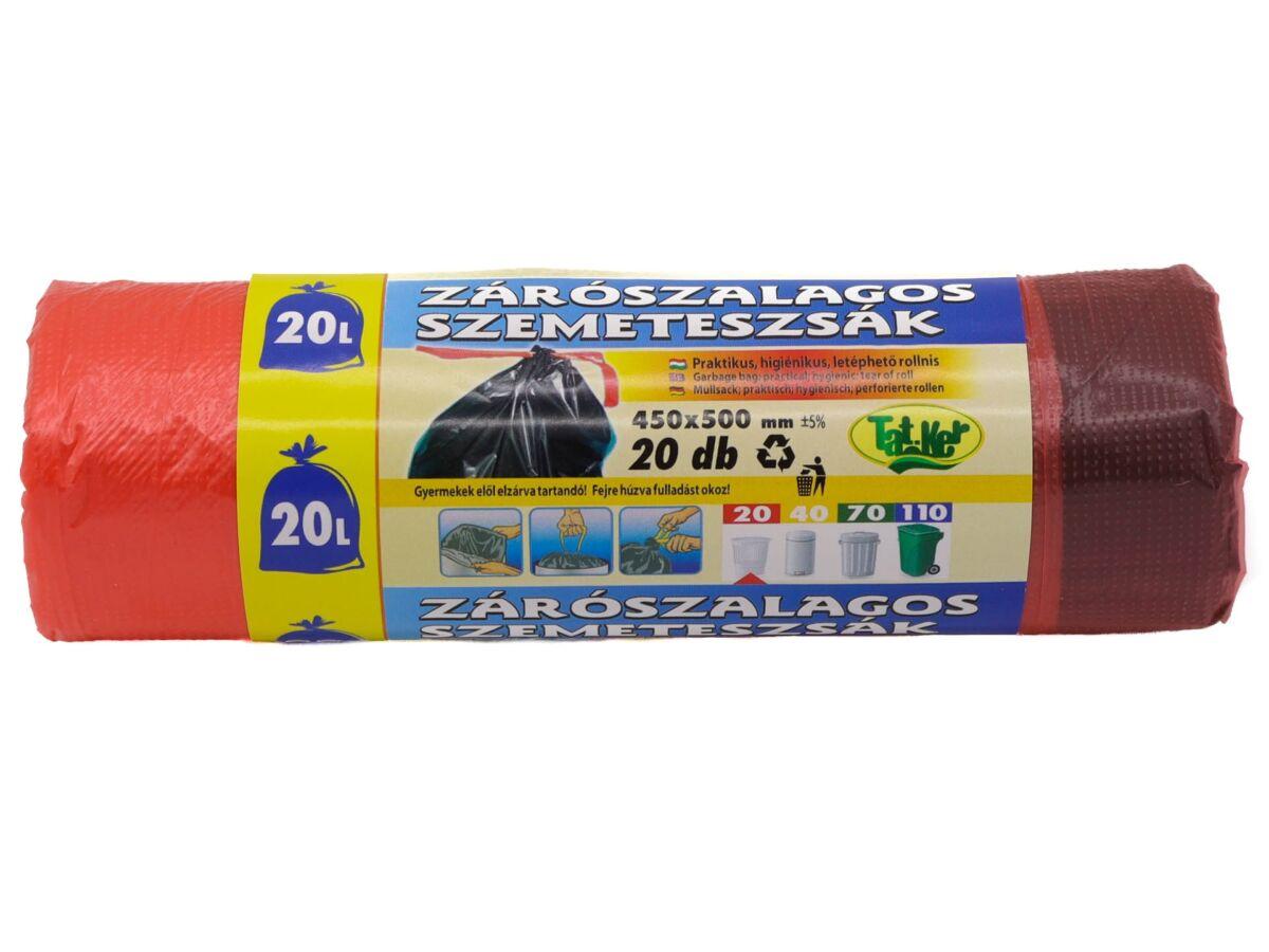 Zárószallagos szemeteszsák 20L