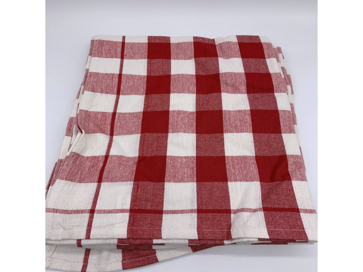 Konyharuha csomag  50x70 cm , Kockás piros