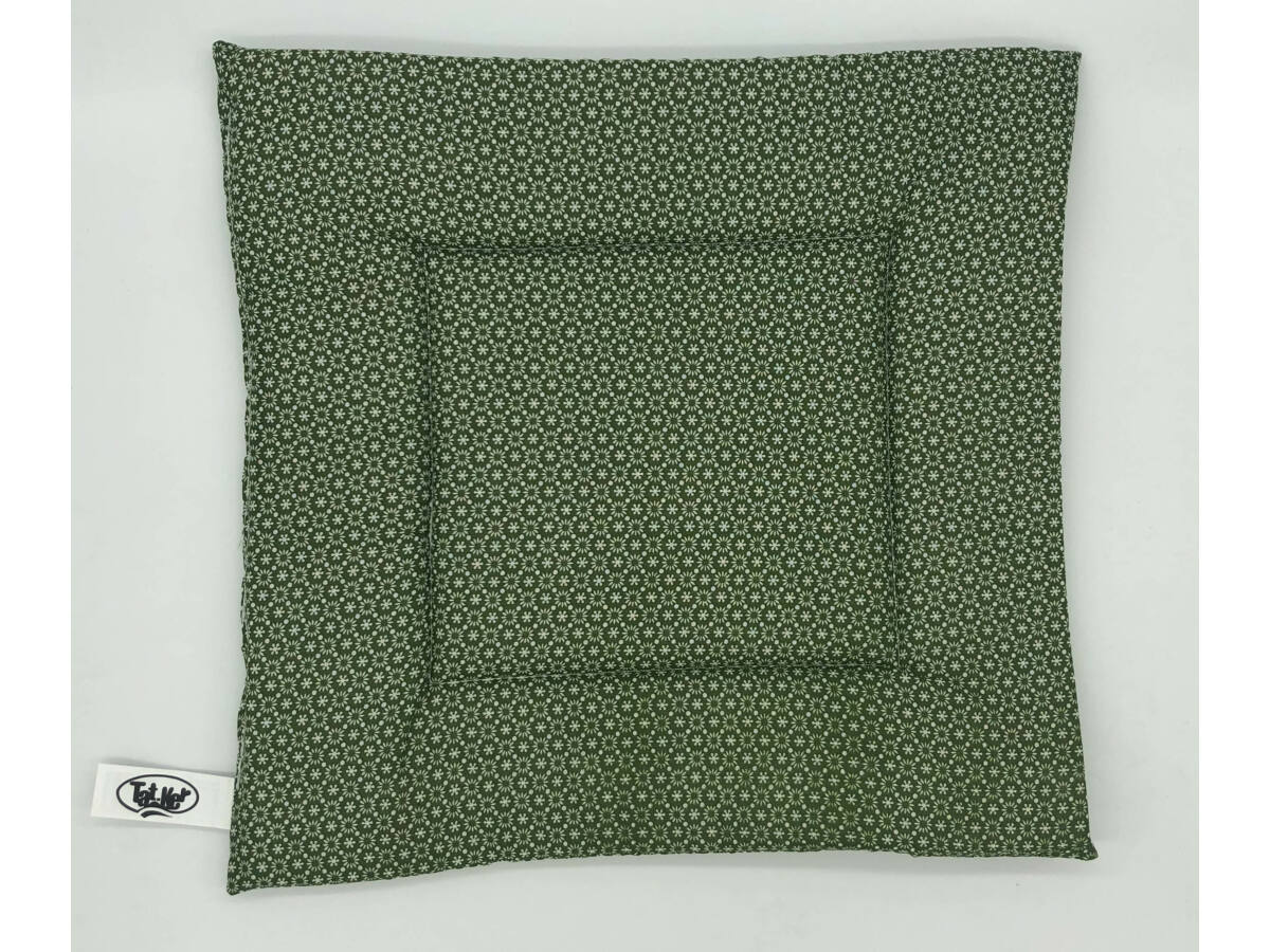 Zöld Virágos ülőpárna 38x38x2 cm