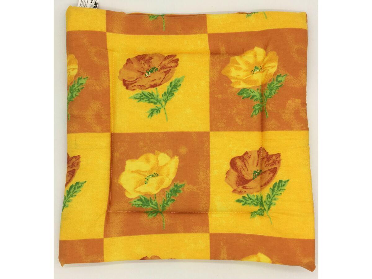 Virágok négyzetek Ülőpárna