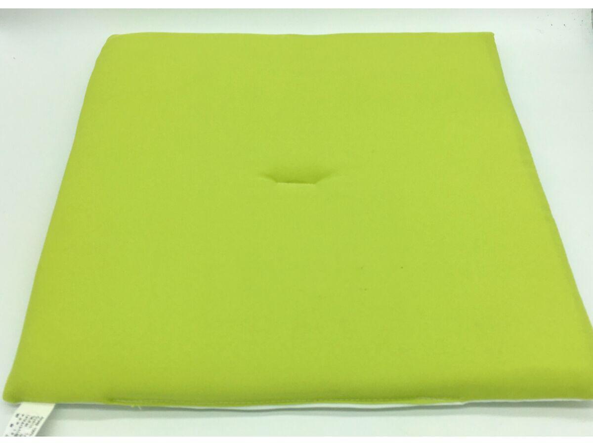Alma Zöld - fehér kétoldalú ülőpárna