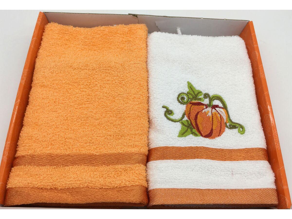 Kéztörlő narancs-tök, 2 db-os 40x60 cm