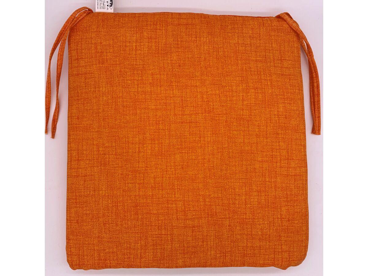 egyszínű narancs kötős ülőpárna