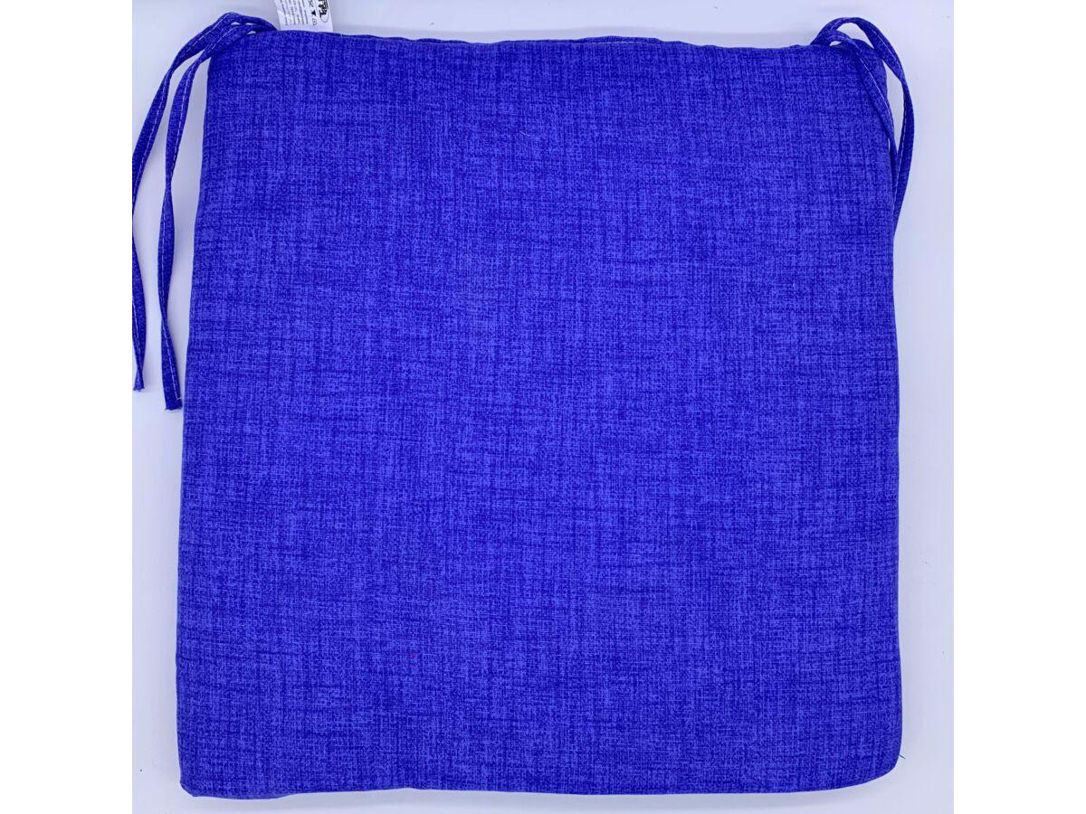 egyszínű royal kék kötős ülőpárna