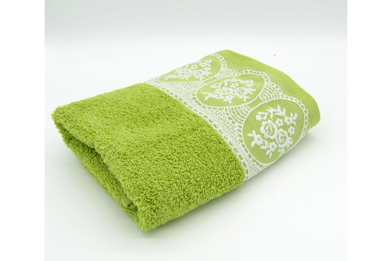 Törölköző 50x90 cm Jacquard  moha zöld