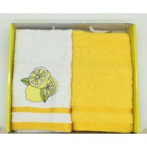Kéztörlő sárga-lemon, 2 db-os 40x60 cm