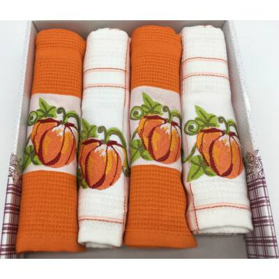 Konyharuha Narancs-fehér , 4 db-os Tök