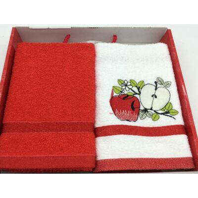 Kéztörlő piros-alma, 2db-os 40x60 cm