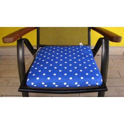 Pöttyös kék Kötős ülőpárna 38 x 41 x 5 cm Blue