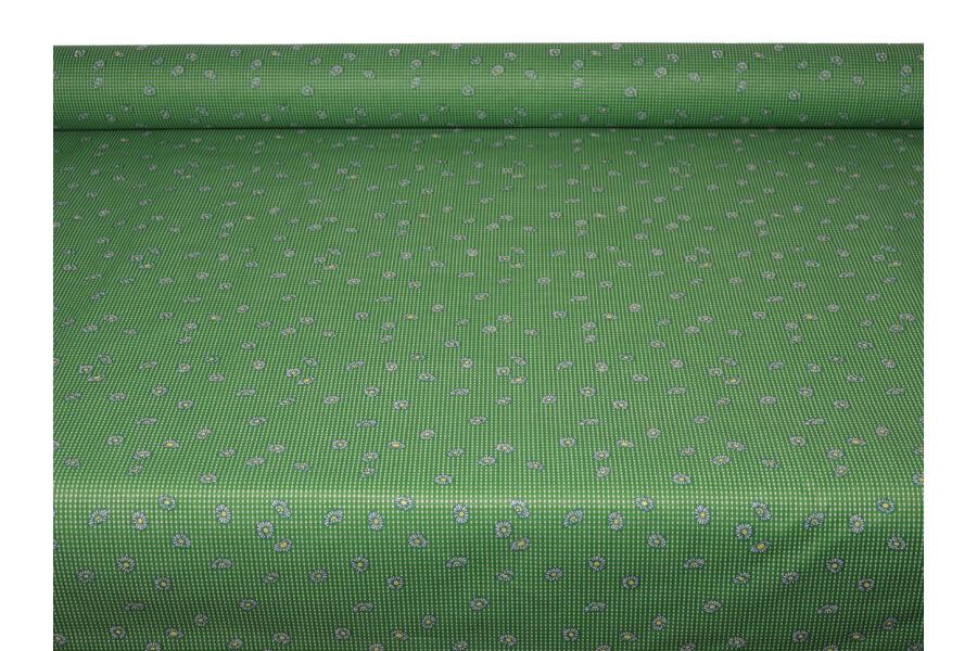 Zöld Margaréta mintás terítő