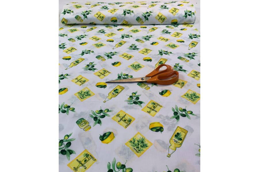 Pamut vászon - Olíva