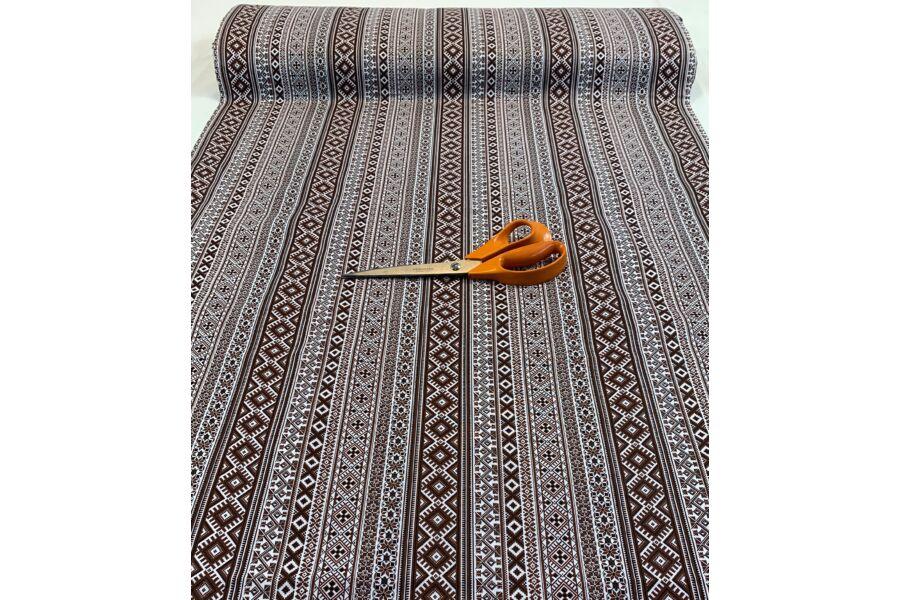 Pamut vászon - barna népművészeti