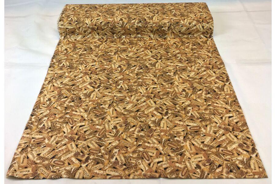 Pamut vászon - Dugó mintás
