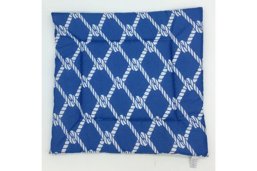 Inda kék ülőpárna 38x38x2 cm
