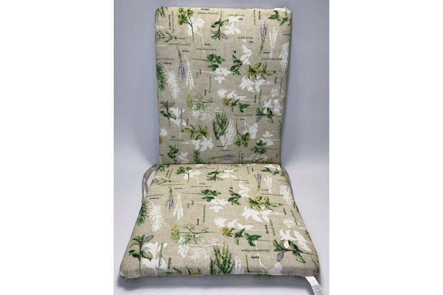 Alacsony háttámlás párna Rosemary zöld