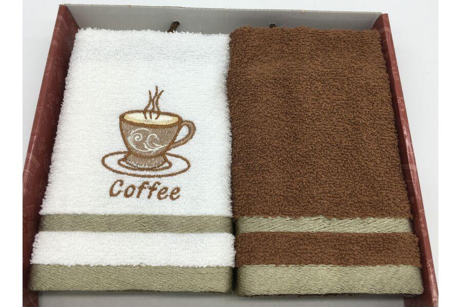 Kéztörlő barna-kávé, 2 db-os 40x60 cm