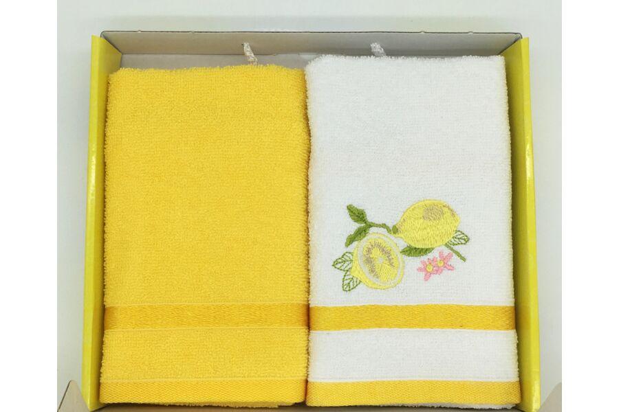 Kéztörlő sárga-citrom, 2 db-os 40x60 cm
