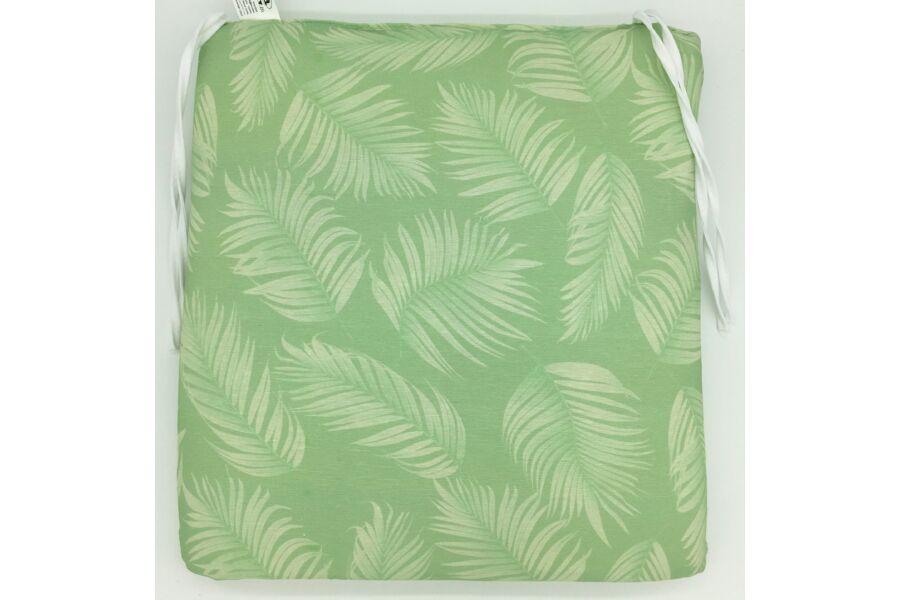 Zöld leveles kötős ülőpárna