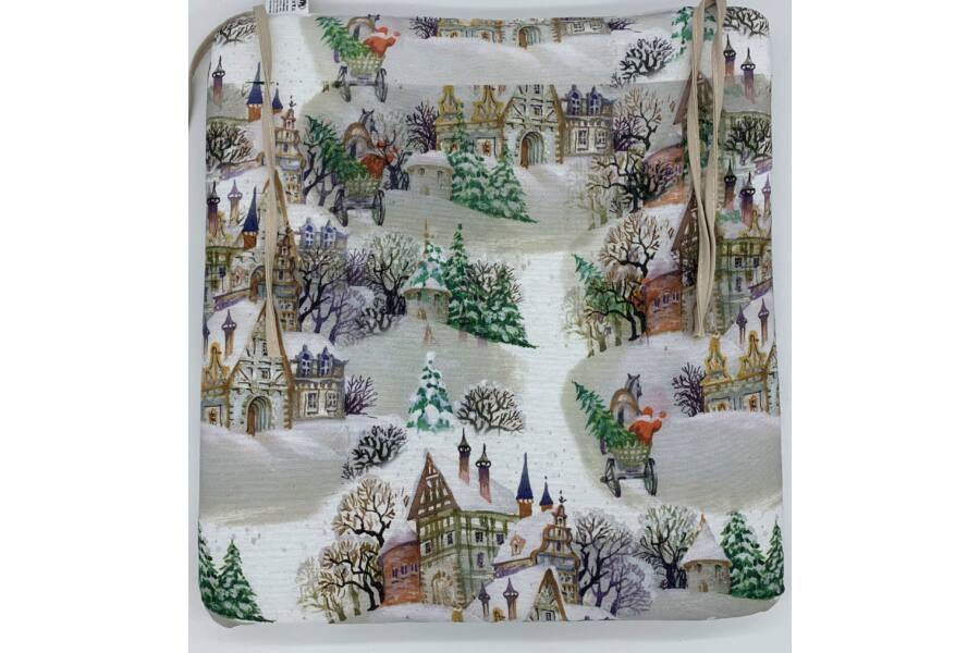 Karácsonyi Alsacia kötős ülőpárna