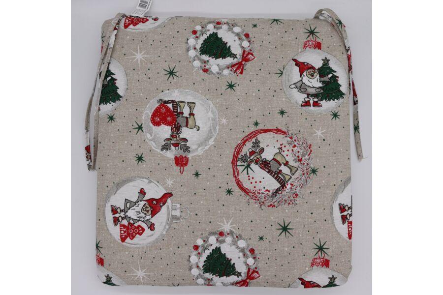 Karácsonyi Deer and Elf  ülőpárna