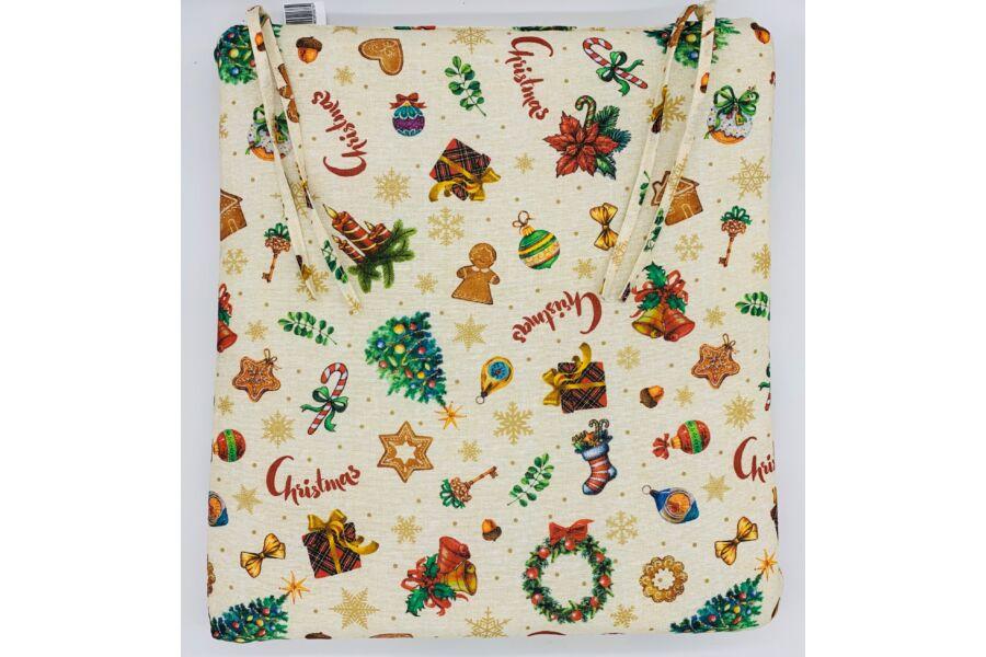 Karácsonyi Gift kötős ülőpárna