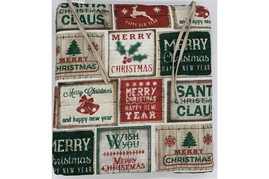 Karácsonyi Vintage kötős ülőpárna