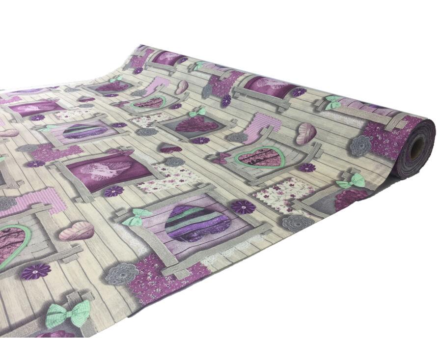 Loneta minőségi méterárú Purple Hearts