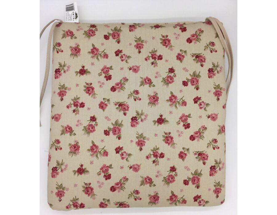 Bordó apró rózsa kötős ülőpárna 38 x 41 x 5 cm