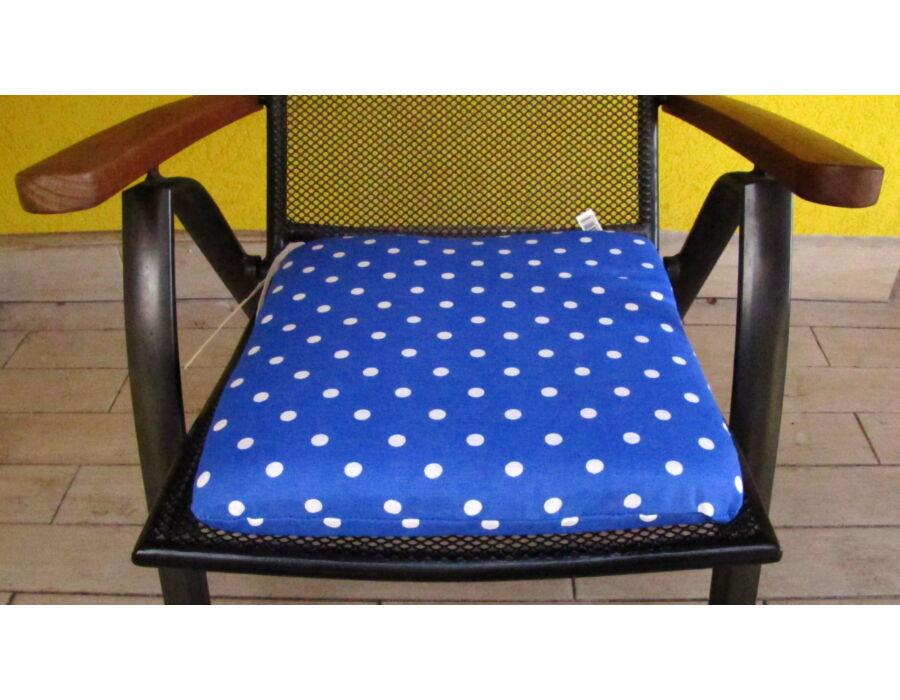 Kötős ülőpárna 38 x 41 x 5 cm Blue