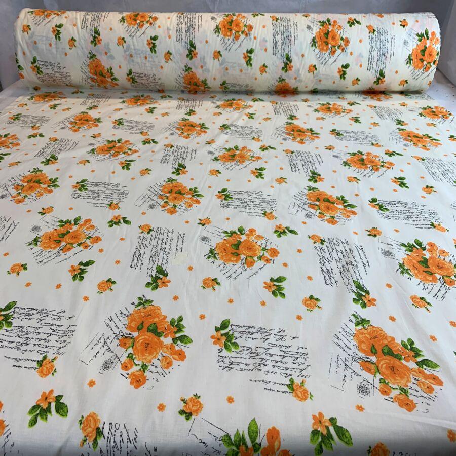 Narancs rózsa terítő