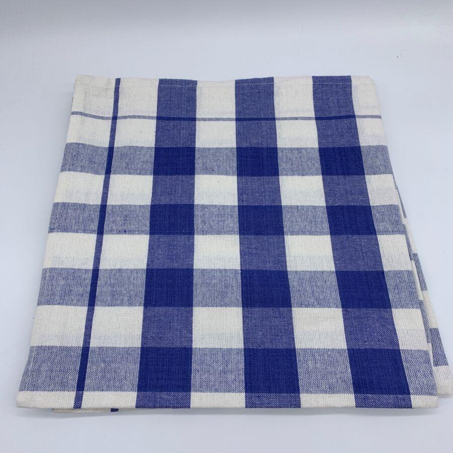 Konyharuha csomag  50x70 cm , Kockás kék