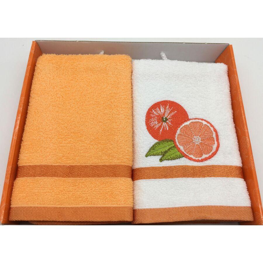 Kéztörlő narancs , 2db-os 40x60 cm